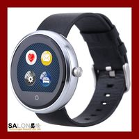 2016 Spring New Style Round Smart Watch, Round Metal Wrist Watch, Heart Rate Monitor Smart Watch