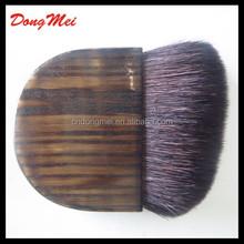 Professional angled hair compact brush,half moon blush brush, free sample worldwide