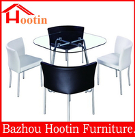 best sell product modern cheap 4 seater glass dining table
