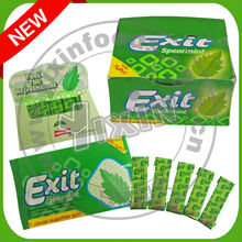 Exit spearmint chewing gum