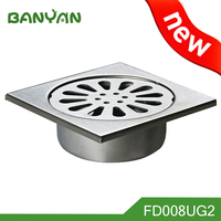 China manufacturer polished 4 inches stainless steel floor drain
