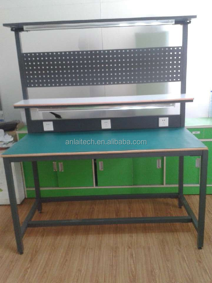 Anti Static Tables : Anti static modular esd workbench table with led light