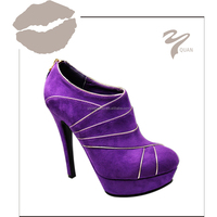 factory manufacture china made bright color suede ladies high heel shoes