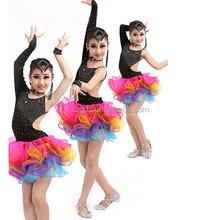 Dernières autrefois salle de bal costume professionnel de la danse latine robe de scène salsa robes de performance de danse