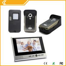 Motion Sensor Door Release Video Door Entry Phone Intercom System for 3 x Flats/Apartments