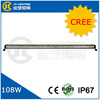 108watt automotive led light bar for truck atv parts 108w led light bar jeep headlight 4x4 led bar light