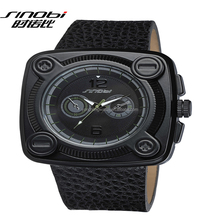 cute looking design man watch with leather band