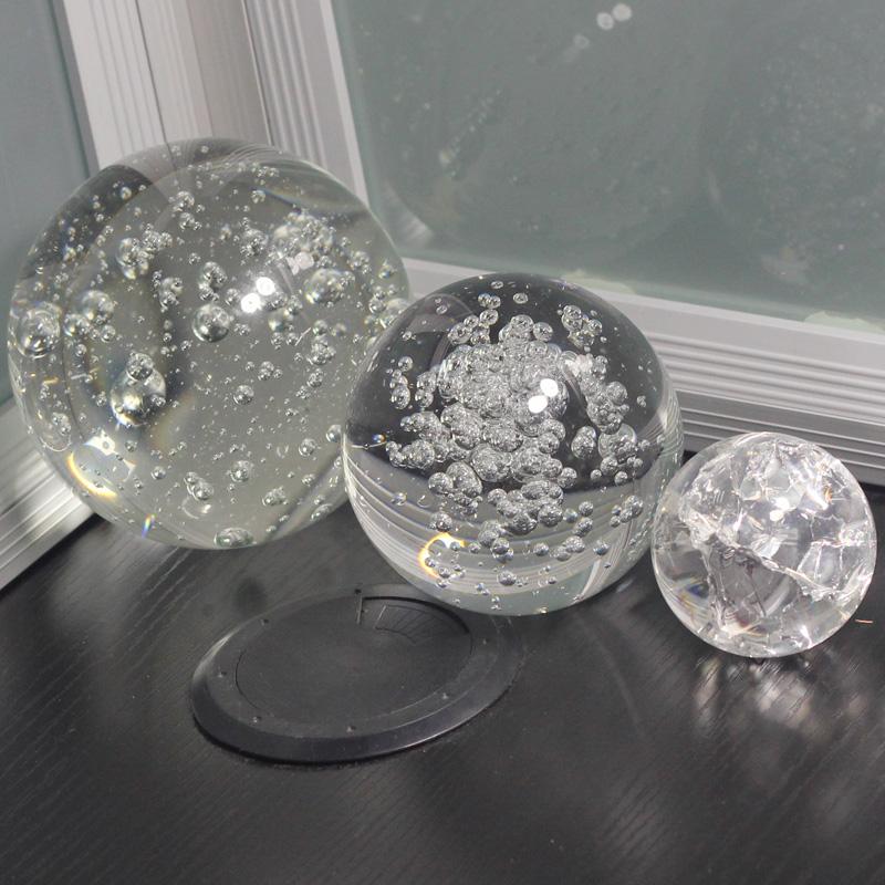 Sólida Bola de Acrílico Transparente (20mm -- 200mm)