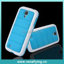 China supplier leather phone case for Samsung Galaxy s4 shockproof hybrid case