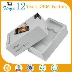 white mobile phone box packaging design