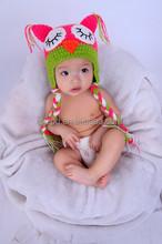Newborn nightowl Crochet baby hats with earflap in winter on sales 2015
