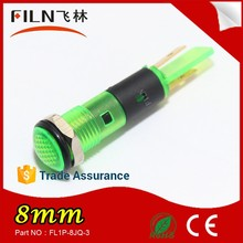 Sample free Plastic Led 8mm diameter 12v nylon material railway signal lamp