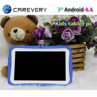 kids mini android 4.4 quad core tablet for bulk wholesale, children kids high quality tablet pc for gaming