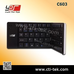 Bluetooth Folding keyboard for Ipad Windows Android (C603)Black