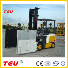 battery forklift with carton clamps