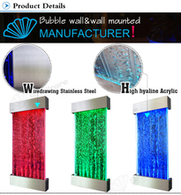 Wedding decoration water bubble wall art with changing color LED light
