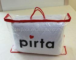 household pillow carry plastic bag with Custom printed logo wholesale