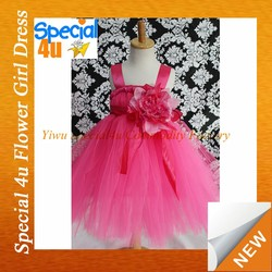 New style chiffon dance frock Hand-knitted flower puffy chiffon design for wedding dresses for children Lyd-500