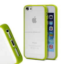 High quality tpu pc clear transparent back for iphone 5 cover silicone