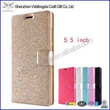 2015 handmade high quality leather 5.5 inch mobile phone case