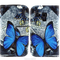 Alibaba Express Leather Wallet Flip Cover Case For Samsung Galaxy S3 mini 8190