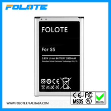 100% original quality rechargeable cell phone battery for samsung s5 G9006v G9008v 2800mah