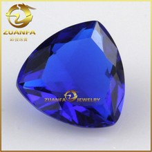 competitive alibaba china fat triangle stone 9x9mm trillion shaped loose crystallized glass stones for jewelry
