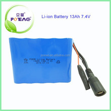 Rechargeable Lithium Battery 18650 13Ah 7.4V Li-ion Battery Pack