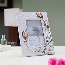 ceramic mini picture frame/white picture frames/my first year photo frame