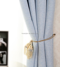 100% polyester hot sale linen like blackout window curtain
