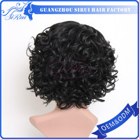 jewish kosher wig , french lace for wig making , short kinky curl lace front wigs