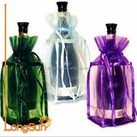 Fabric Wine Bottle Gift Bag Organza Fabric Bottle Gift Bag Fashion