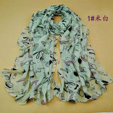 f454 wllaw Wholesale chiffon scarves scarf lipstick high-heeled shoes scarf longer section provides image-shipping RX20