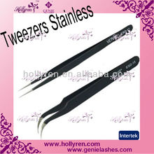 Stainless Steel HOT Tweezers for Eyelash Extensions Kit