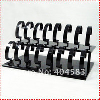 16 Grid 2-tires Black professional super Watch display rack for promotion