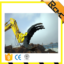 excavator grab for gravels