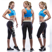 High quality black digital print human skeleton 90% polyester 10% spandex women yoga pants fitness wholesale