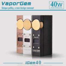 New product big watt igem40 7-40W mod vapor flask mod easy to carry ecigarette