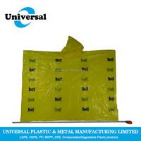 Customer design Multi-Color clear rain poncho