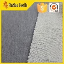 2015 hole sale CVC terry fleece knit fabric for sweater