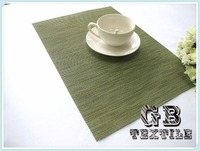wholesale green oval vinyl placemats