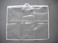 2013 Hot Sale Clear PE plastic zipper pillow bag with rope handles