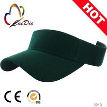 polyester visor cap/high crown visor wholesale