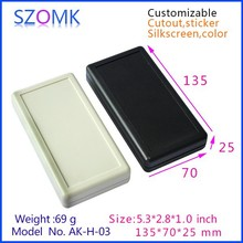 2 x AA battery plastic enclosures for electronics abs plastic housing