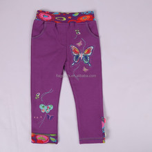 2-6Y(K710#PURPLE)Nova kids wear cotton knit butterfly baby trousers