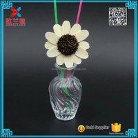 2016 elegant factory price clear embossed glass flower vase