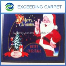 Hot Sell Fancy Christmas Santa Claus Printed Door Mat