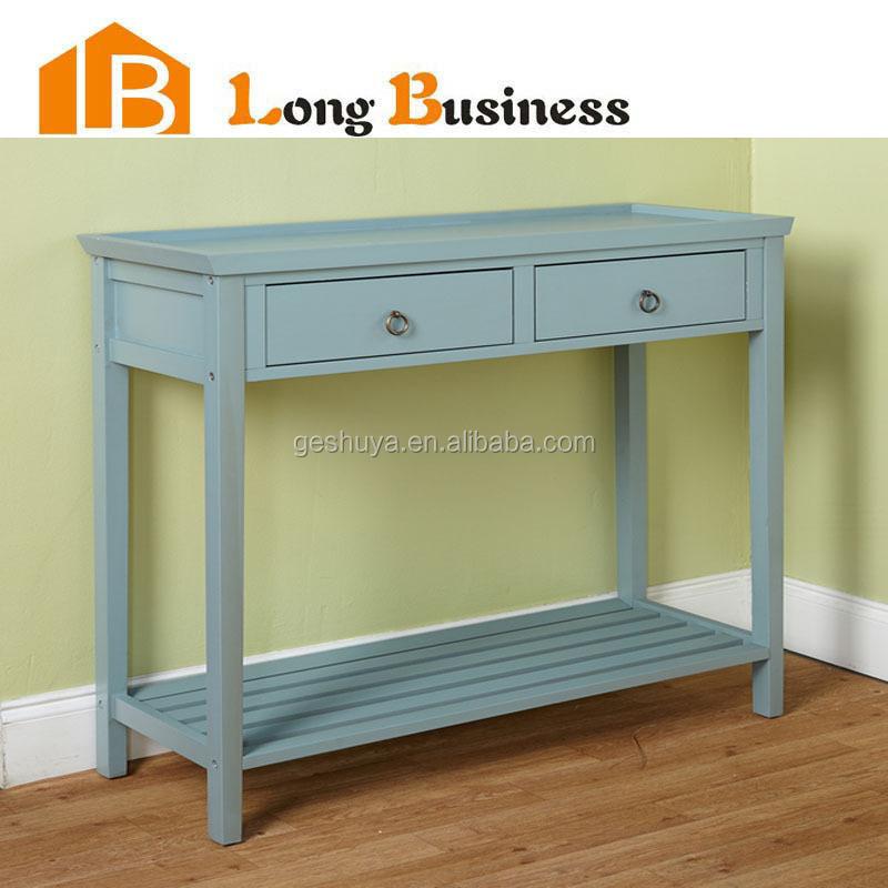 lb-vw5102 평온 하늘색 얇은 옷장 서랍 콘솔 테이블-목재 테이블 ...