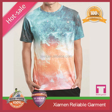 2015 Latest design mens polyester spandex t shirts Xiamen factory