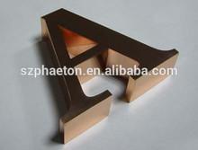 letras de metal para la decoración